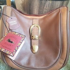 Saddle River stone mountain genuine leather bag